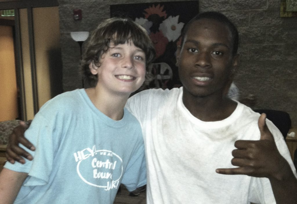 Will Ellis and HASS student Xavius Gowdy